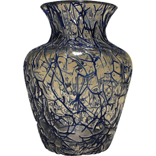 Antique Peloton Glass Vase