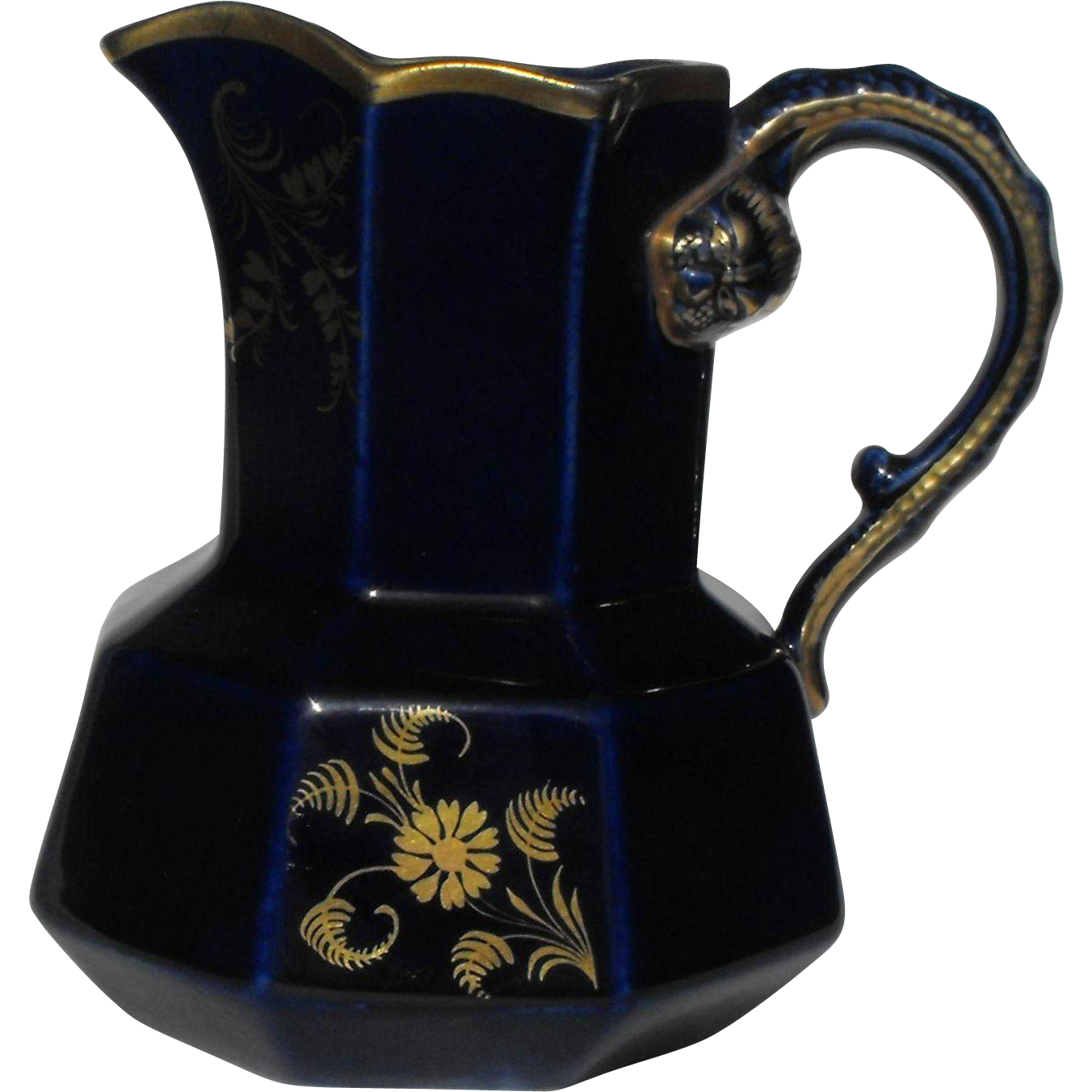 Mason's Mazarine Blue Jug English Ironstone Early 19th Century