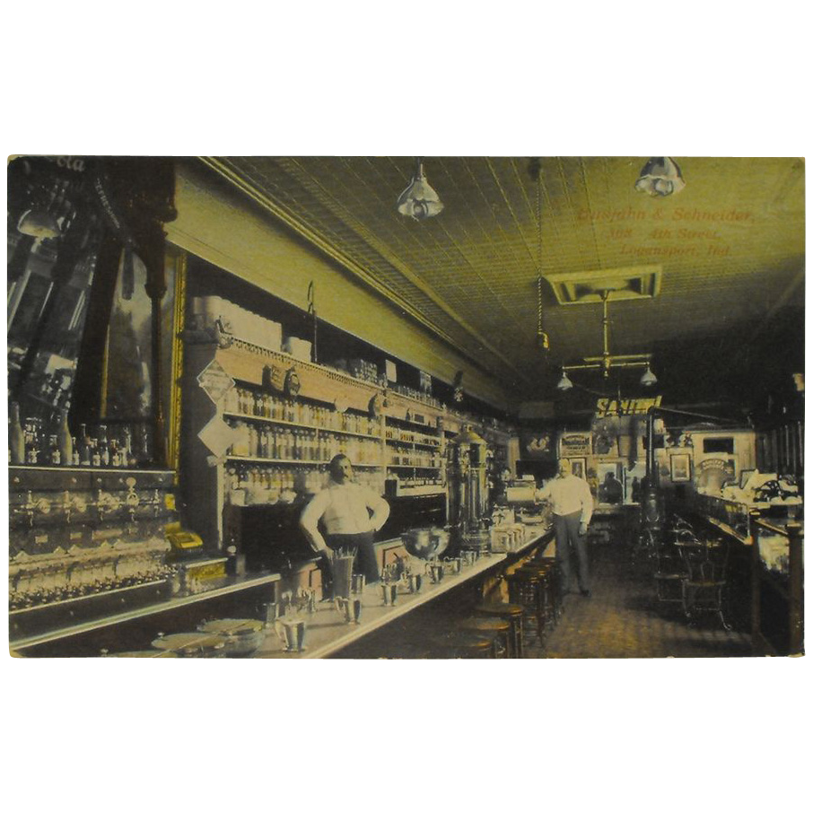 Postcard Interior Busjahn And Schneider Drug Store