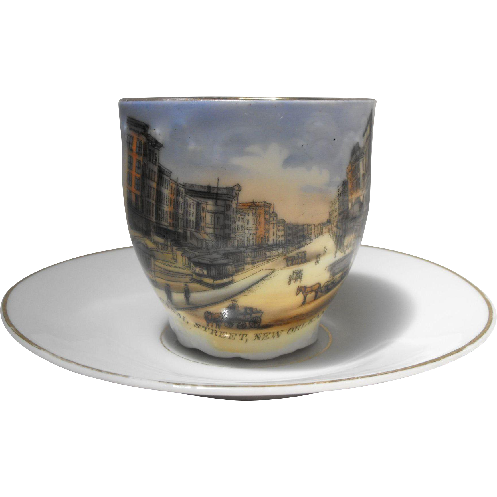 Wheelock German Souvenir China Cup Canal Street New