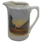 Main Street Charlotte, Michigan Souvenir China Creamer