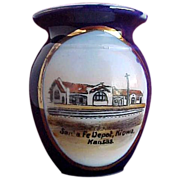Santa Fe Railroad Depot - Jonroth Souvenir China Toothpick Holder