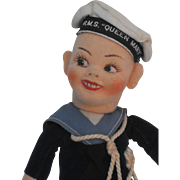 R.M.S. Queen Mary Norah Wellings Barefoot Jollyboy Sailor Doll