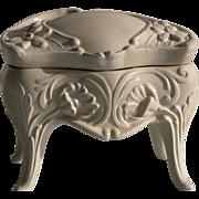 Edwardian Jewelry Box Trinket Box Cast Metal