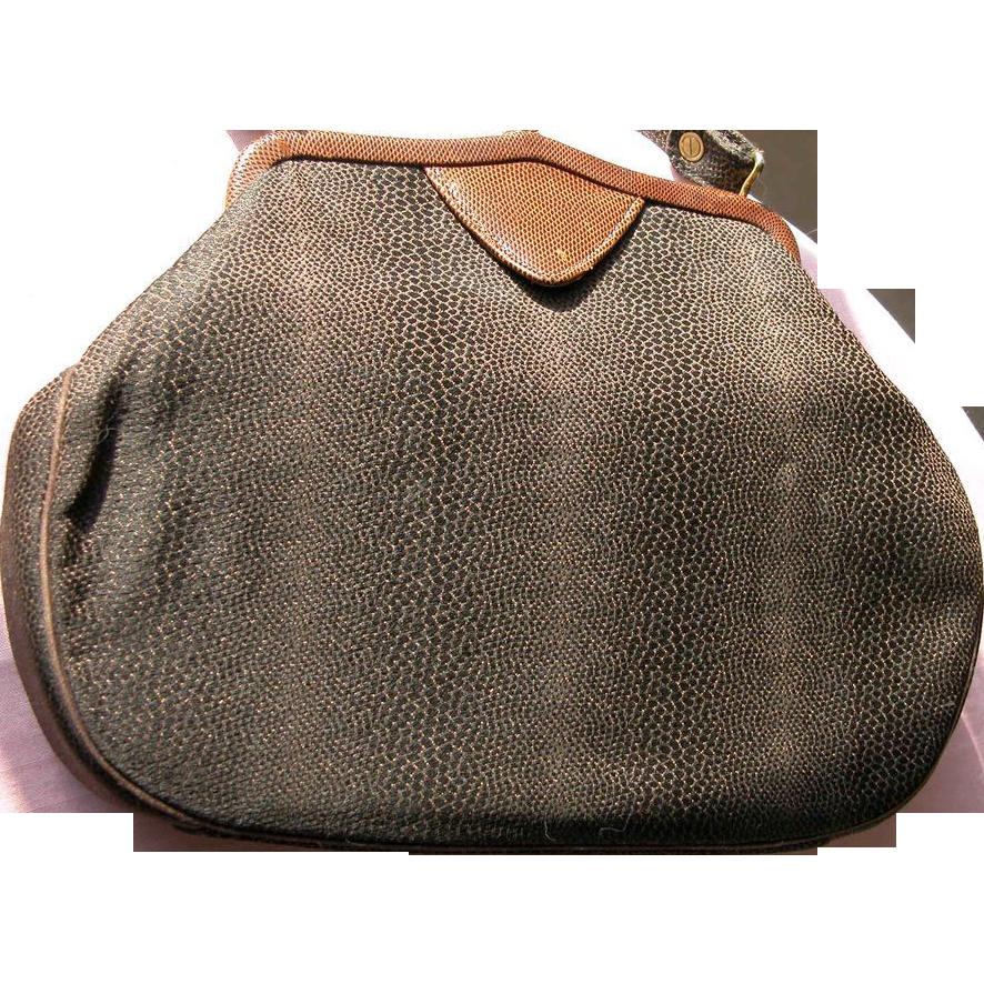Purse Handbag Stylecraft Faux Snake Skin Purse