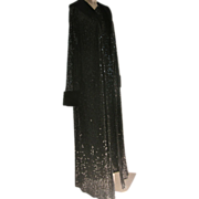 Formal Sequin Dress and Long Coat Two Pieces with Faux Fur Playboy Bunny Provenance