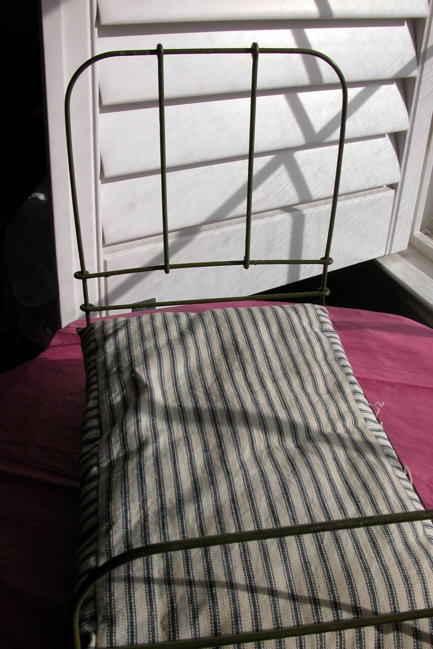 Iron Doll Bed With Mattress For Larger Doll 1940 S Iron