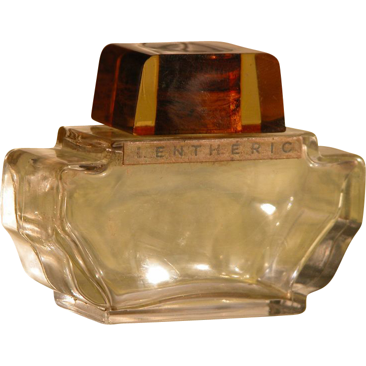 Perfume Bottle by Lentheric Commercial with Lucite Top