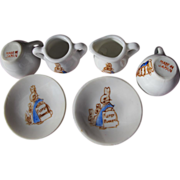 Doll Dishes Six Pieces Hand Painted Japan Porcelain
