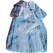 Doll Coat of Polka Dotted Swiss Fabric Lined