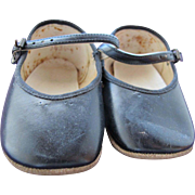 Vintage Baby Doll Shoes Black Leather FREE Shipping