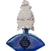 Czechoslovakian Perfume Bottle 1920 Blue Glass Karl Palda Marriage