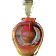 Perfume Bottle by Correia Art Glass in Multi Colors Signed Numbered Dated