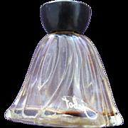 Rare Mini Perfume Bottle By Lucien Lelong Jabot 1939 Bakelite Top