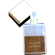 Molinard Perfume Bottle Vintage Frosted Glass with Nudes 1980 FREE Shipping