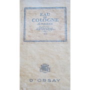 Boxed Perfume Bottle D'Orsay Ambree Eau de Cologne