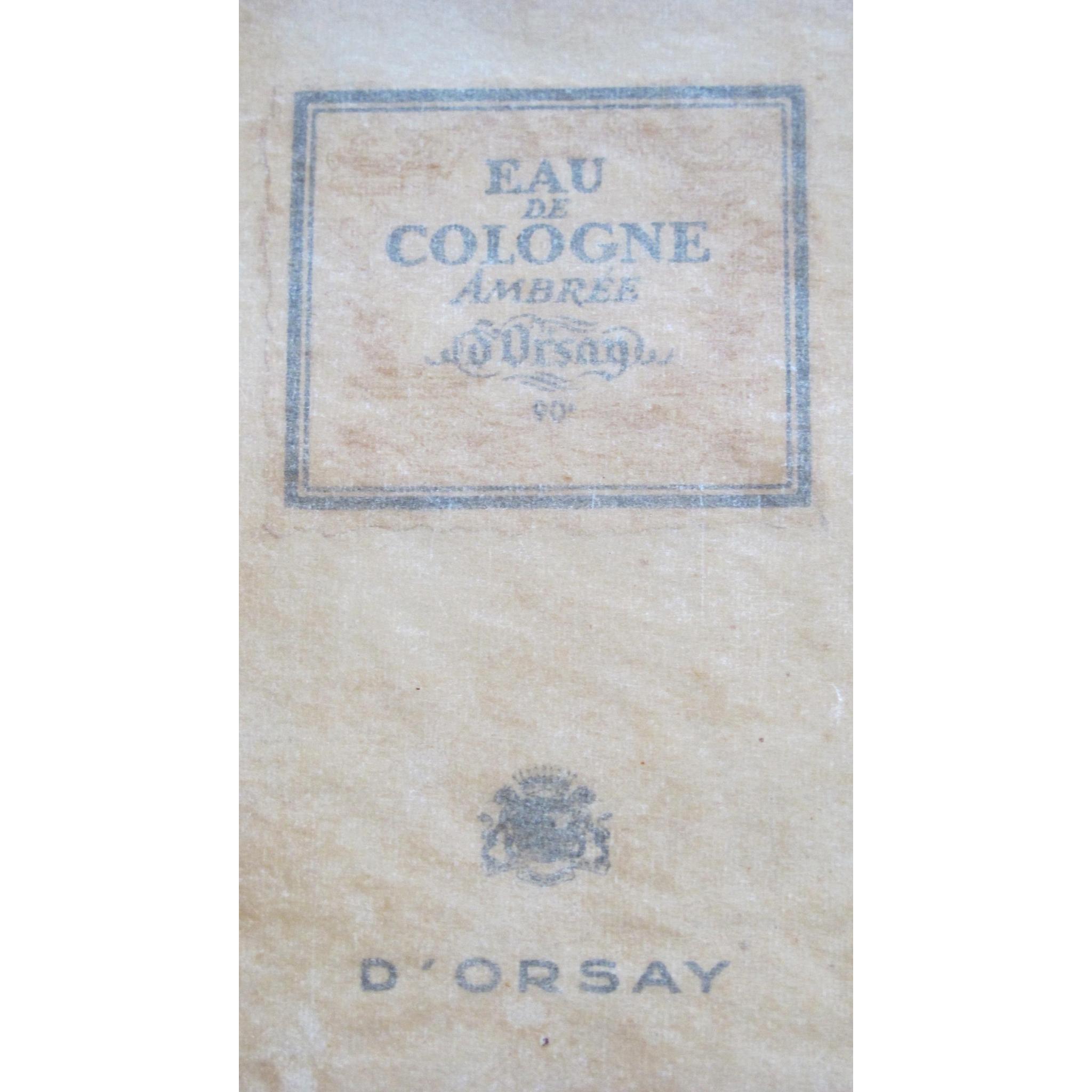 Boxed Perfume Bottle D'Orsay Ambree Eau de Cologne