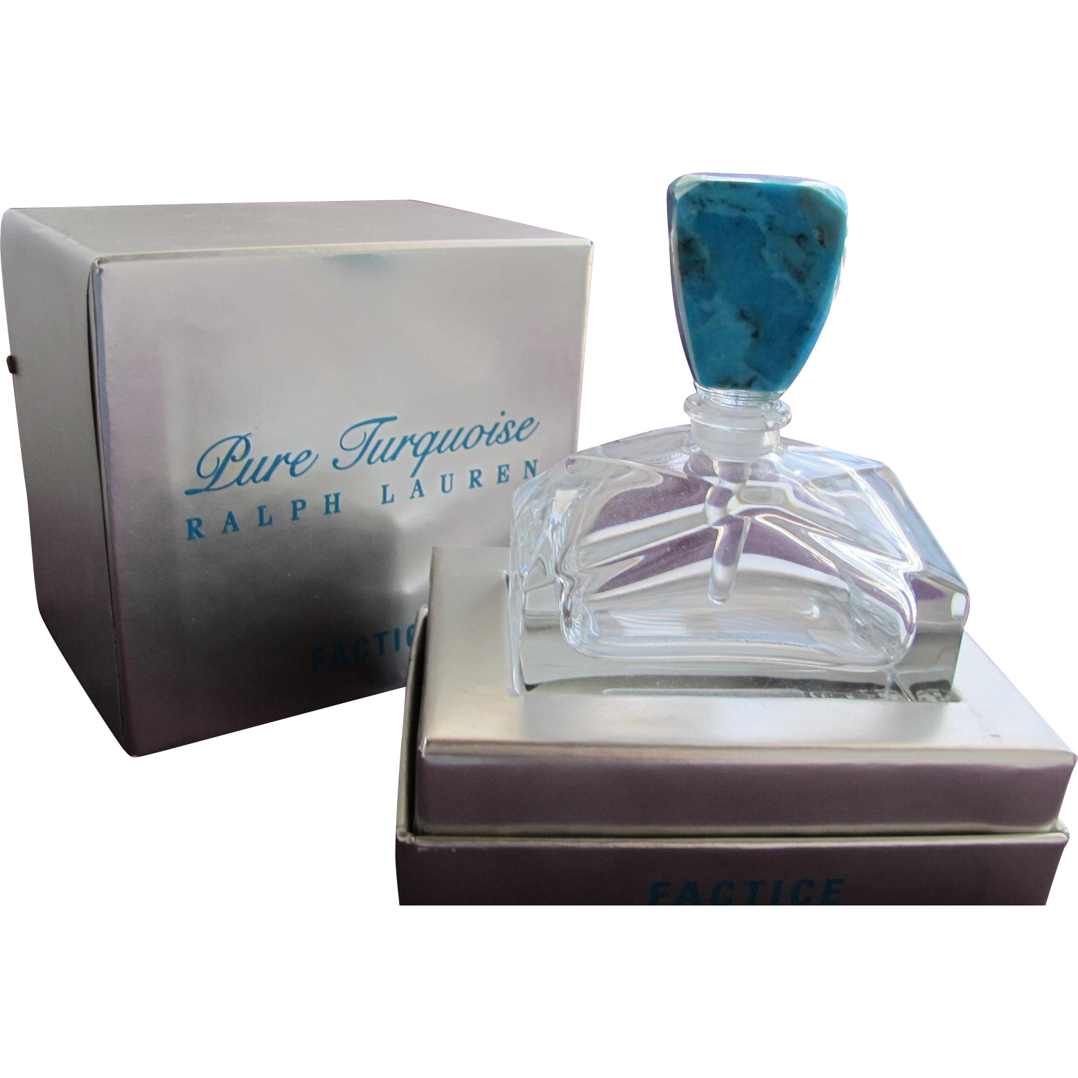 Perfume Bottle by Ralph Lauren Factice with Turquoise Stone Stopper