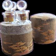 Boxed Perfume Bottles by Vantines in Wood Box