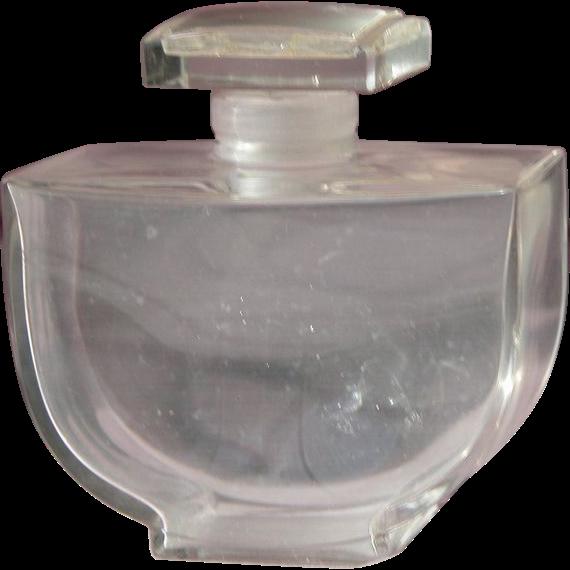Baccarat Perfume Bottle Crystal by Caron Fleurs De Rocaille