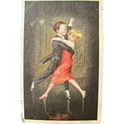 Post Card with Children Dancing