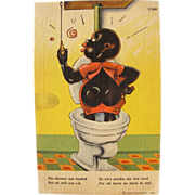 Black Americana Post Card Humorous Fun Great Condition Unused