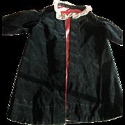 Victorian Doll Coat in Black Velvet