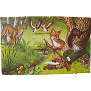 Post Card with Animals by Alfred Mainzer Artist Signed