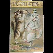 Post Card Funny Cats Artist Signed Maurice Boulanger Tucks