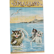 Post Card Funny Cats Artist Signed Maurice Boulanger Tucks FREE Shipping