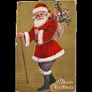 Santa Post Card Christmas 1909