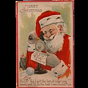 Santa Post Card Christmas - Red Tag Sale Item