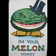 Post Card Dressed Melon Artist Signed