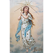 Post Card with Angel of Faith