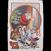 Santa Post Card Merry Xmas 1910