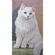 Cat Post Card Artist Signed Unused Excellent Condition