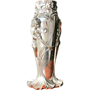Silver Vase Vintage Tall and Stunning Art Nouveau Style Italy in Box - Red Tag Sale Item