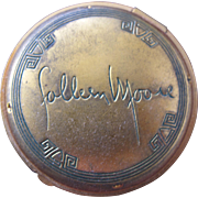 Compact for Colleen Moore Silent Film Actress of 1920's by Darnee Perfumer of New York