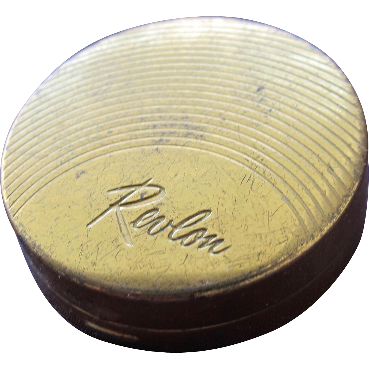 Vintage Compact by Revlon Gold Metal with Rouge