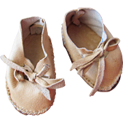 Vintage Doll Shoes in Real Leather