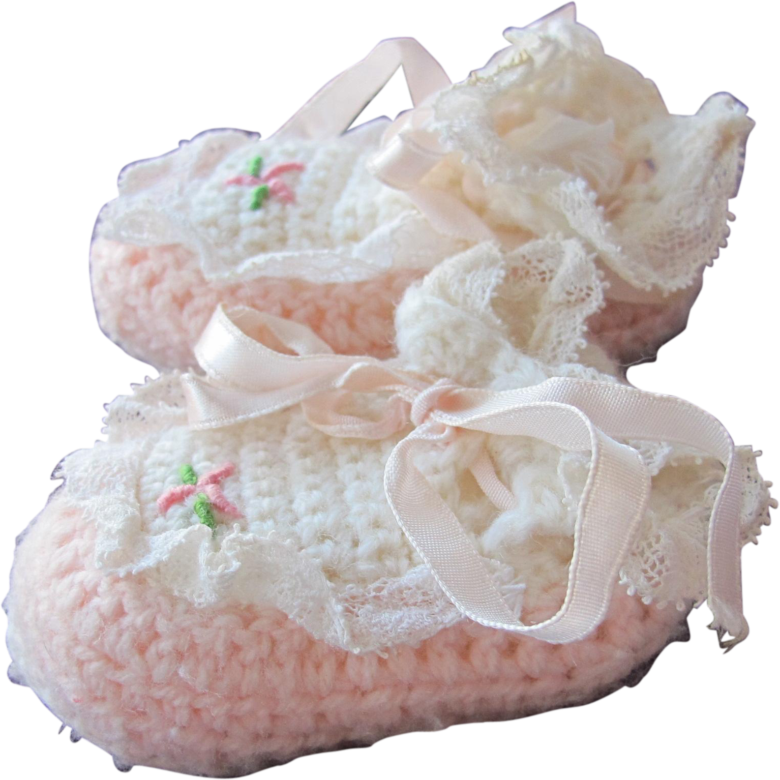 Doll Shoes Crocheted for Baby Small Hand Made