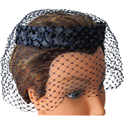 Straw Hat Halo Style with Netting