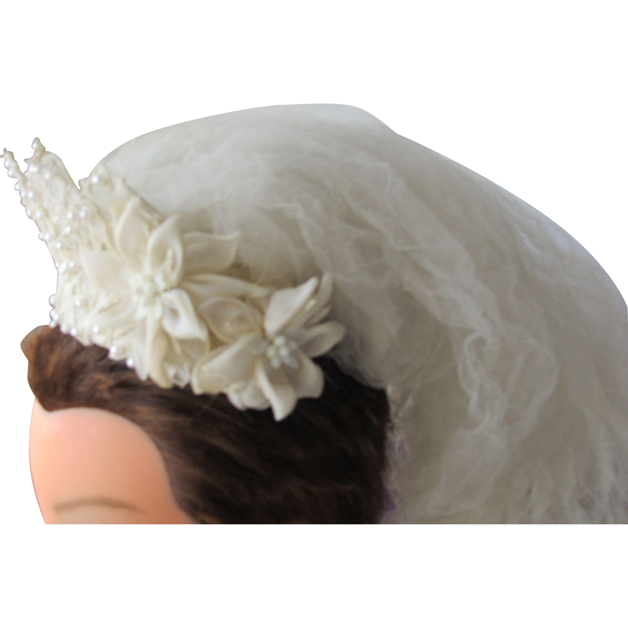 Vintage Wedding Veil Tiara Head Dress for Bride