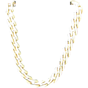 Vintage Monet Necklace with Gold Color Chain