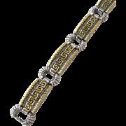 Vintage Bracelet with Greek Motif