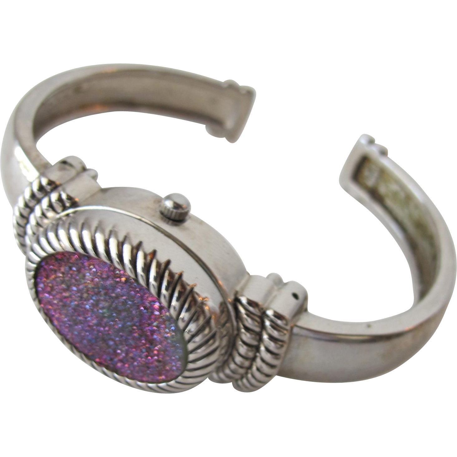 Ladies Bracelet Watch of Silver and Stone that Glitters