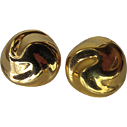 Monet Gold Color Clip Earrings