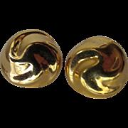 Monet Gold Color Clip Earrings