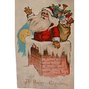 Santa Claus Post Card by Artist Katherine Gassaway