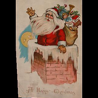 Santa Claus Post Card by Artist Katherine Gassaway